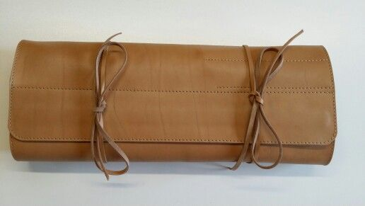 Leather knife roll made by STOFFELDESIGN
