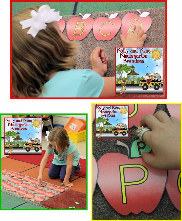 Alphabet apple matching literacy center...