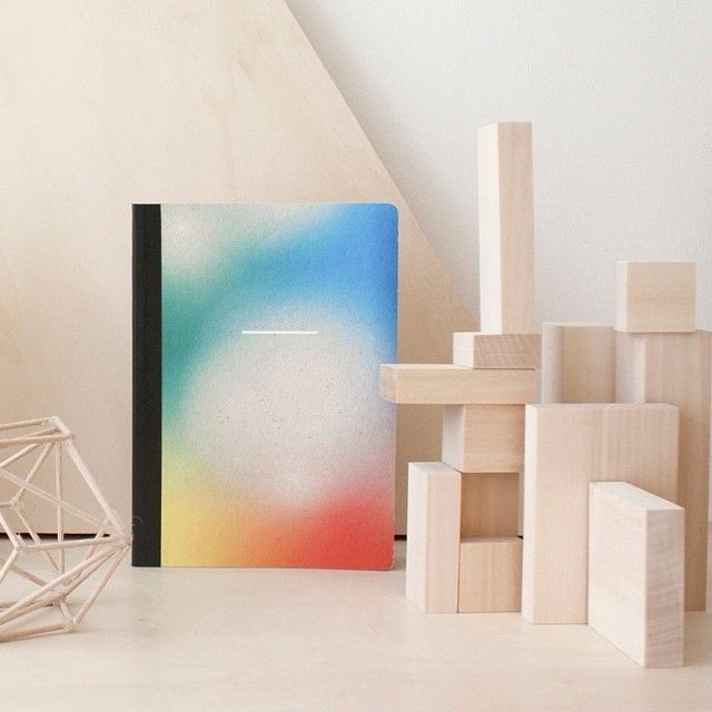 Rainbow notebook + archiblocks cinqpoints / Papier Tigre