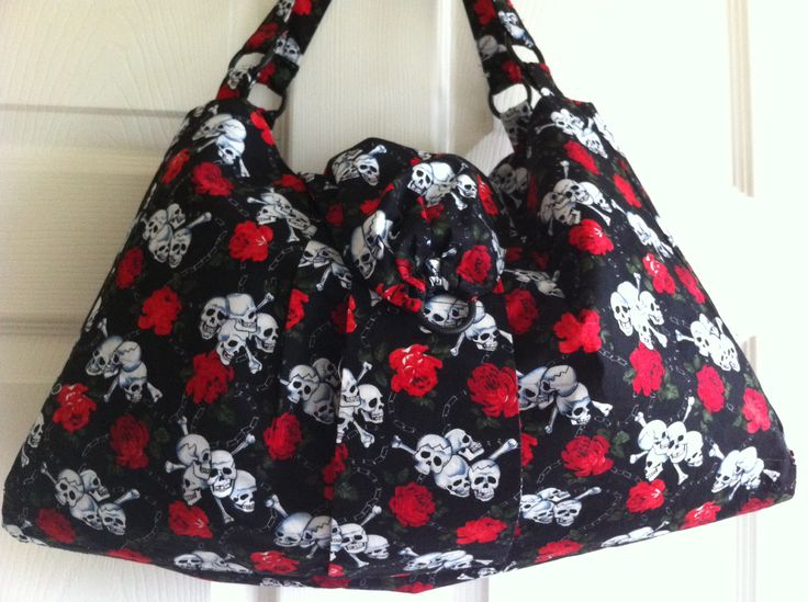 Skull and crossbones bag, made for a friend.