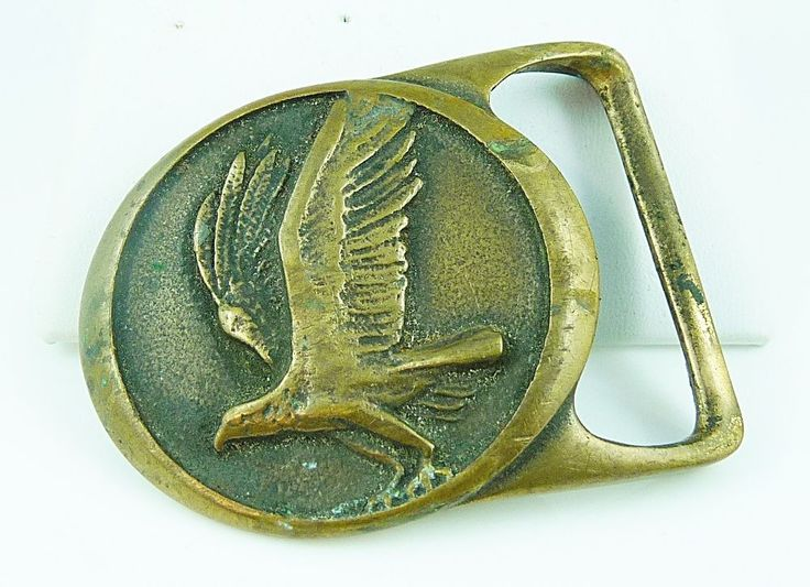 Rare Vintage Tech Ether Guild Quot Osprey Quot Brass Belt Buckle
