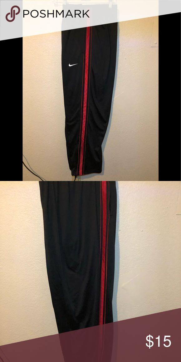 Nike Men's Practice OT Training Basketball Pants Nike Men's Practice OT Training Basketball Pants Black/Red Sz L Nike Pants Sweatpants & Joggers