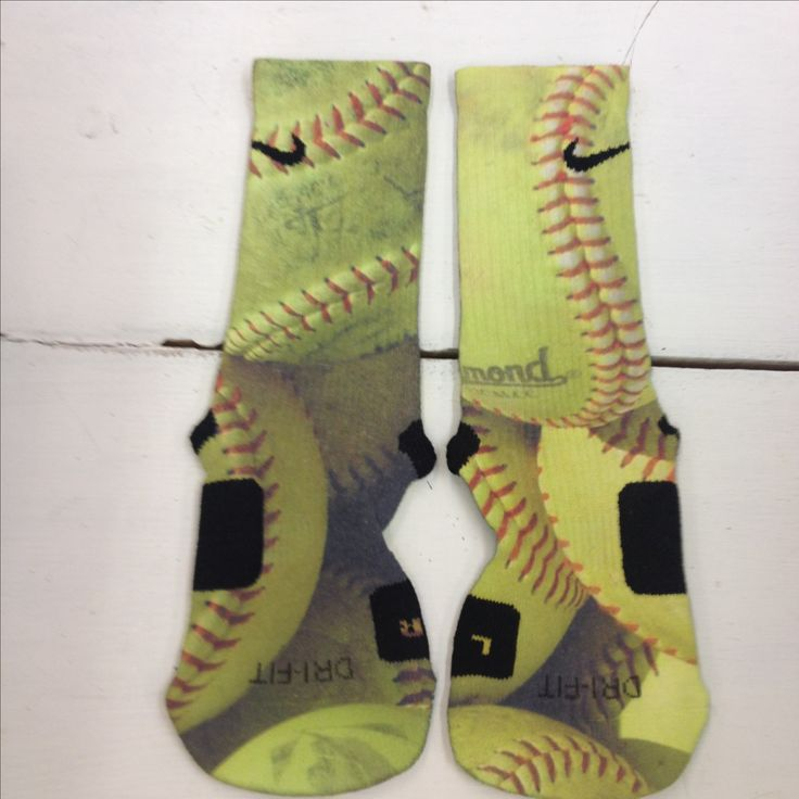 "Custom Nike Elite Socks ""Softball"" - Thumbnail 1"