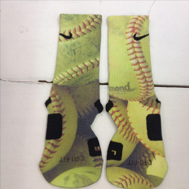 "Custom Nike Elite Socks ""Softball"" - Thumbnail 1"