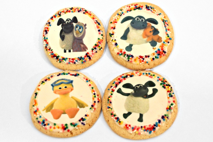 Timmy Time sugar cookies!  For my daughters 2nd birthday.
