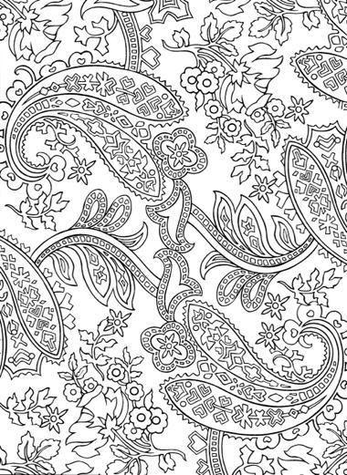 196 best paisley images on Pinterest | Malbücher, Druckvorlagen und ...