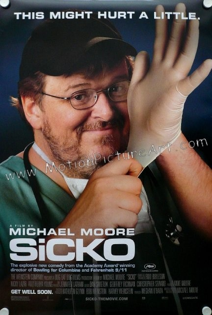 Sicko (2007) Movie - Michael Moore's disturbing examination of the highly profitable, ineffective  American health care industry in comparison to other nations. #michaelmoore #sicko #sickomovie #michaelmooremovies #michaelmooretrailers