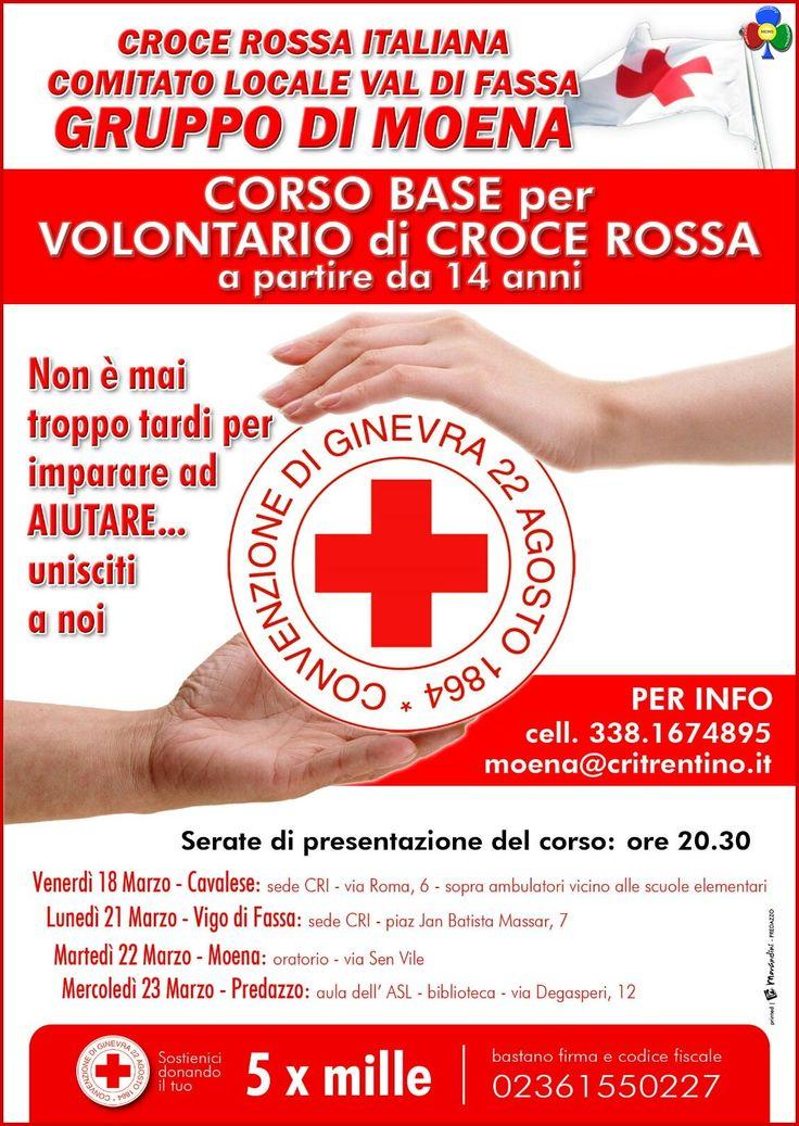 Corsi per Volontari Croce Rossa in Fiemme e Fassa