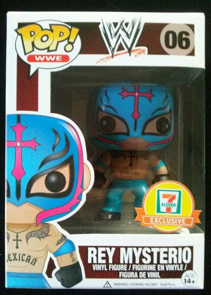 Funko POP! WWE #06 7-11 exclusive Rey Mysterio. (Light ...