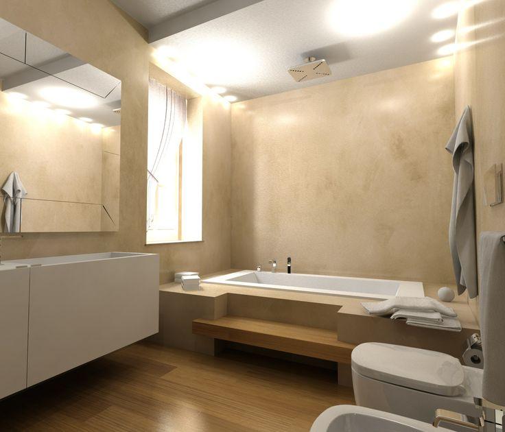 Progetto di bagno con pavimento e rivestimento in resina resina pinterest - Rivestimento bagno resina ...