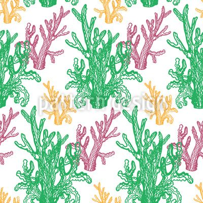 Curly Corals Design Pattern Design Pattern by Elena Alimpieva at patterndesigns.com