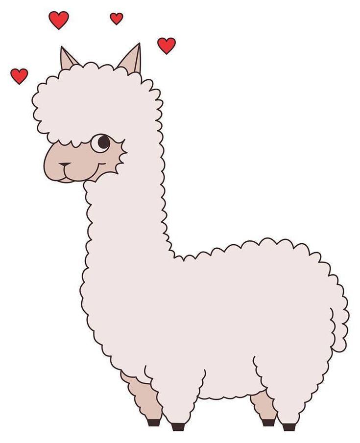 Картинки милых ламы для срисовки