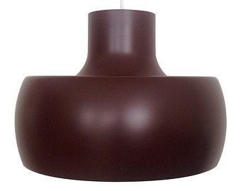 UBO Light - Large brown pendant - 1960s - presumed Bent Karlby for ASK Belysning. Danish vintage design. Iconic large brown hanging lamp.