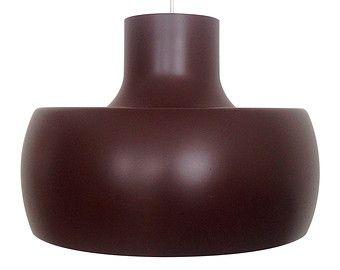UBO Light - Large brown pendant - 1960s - presumed Bent Karlby for ASK Belysning. Danish vintage design. Iconic large brown hanging lamp.