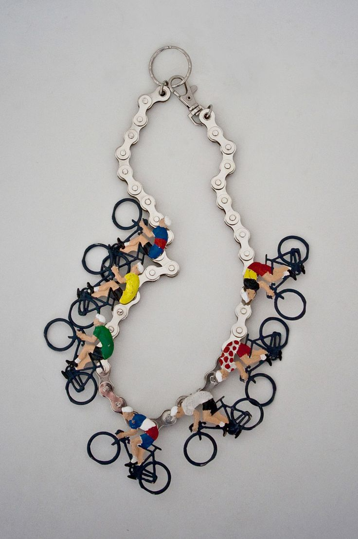 Bicycle Necklace by Mervi Kurvinen - For more great pics, follow www.bikeengines.com