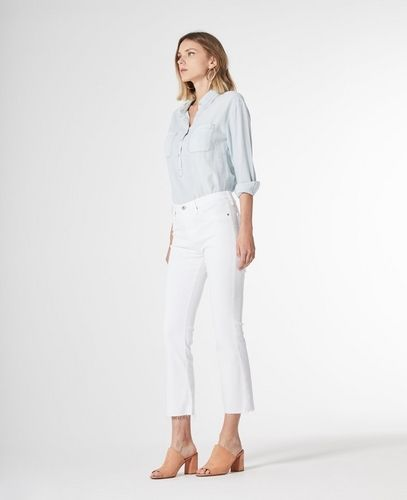 fa5b8f9dfb6 The Jodi Crop. White flare crop jeans from AG. Great for all body types.    Poplin Style