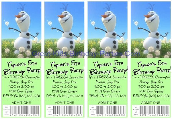 #Frozen Invitations - Free printable ticket invitations, easy to make in minutes, see how.