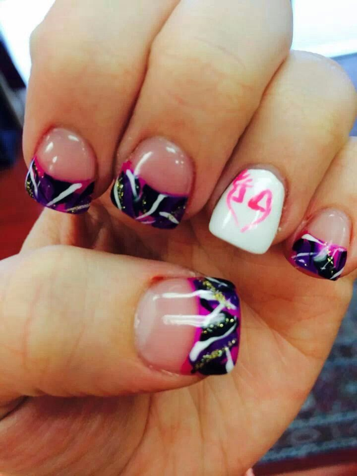Muddy Girl Camo nails!
