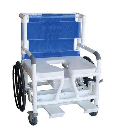 Self Propelled Aquatic Rehab Shower Transport Chair With Bar MJM131-18-24W-BAR