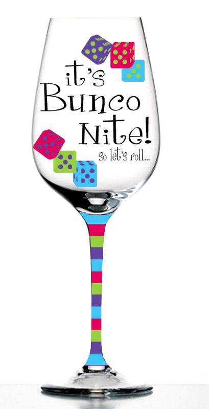 Bunco Wine Glasses - Bunco Party Kitchen...bunco website