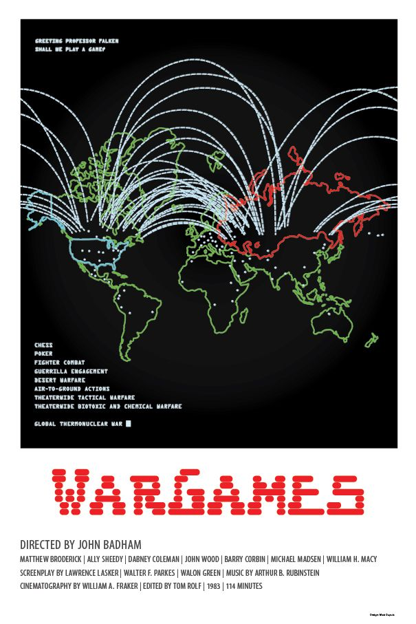 WarGames (1983) - Minimal Movie Poster - Follow the podcast https://www.facebook.com/ScreenWolf and https://twitter.com/screen_wolf