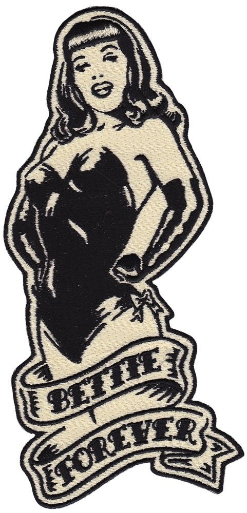 BETTIE PAGE BETTIE FOREVER PATCH $12.00 #bettiepage