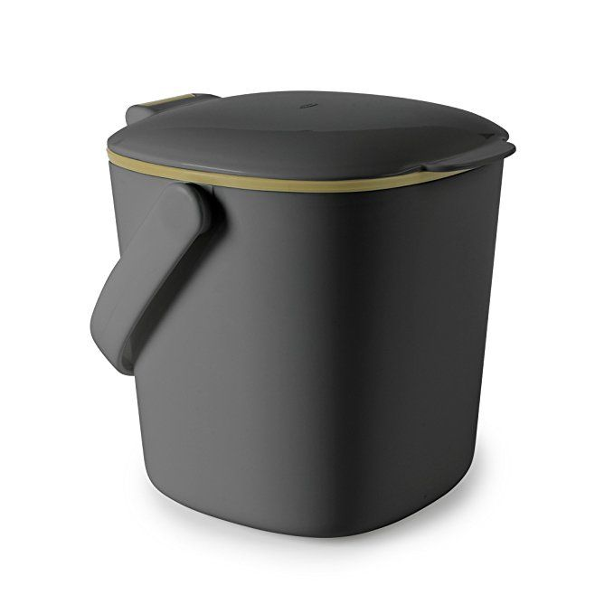 Amazon Com Oxo Good Grips Easy Clean Compost Bin Charcoal