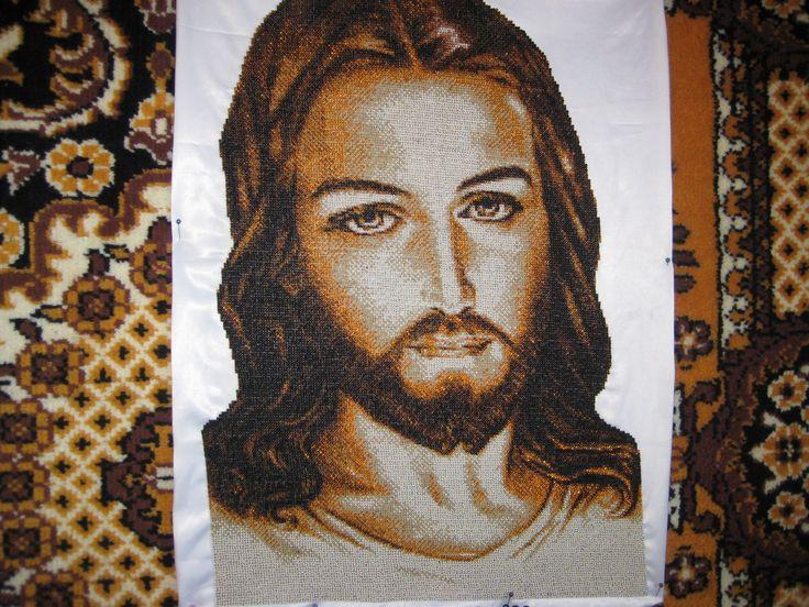 моя работа бисером-ИСУС