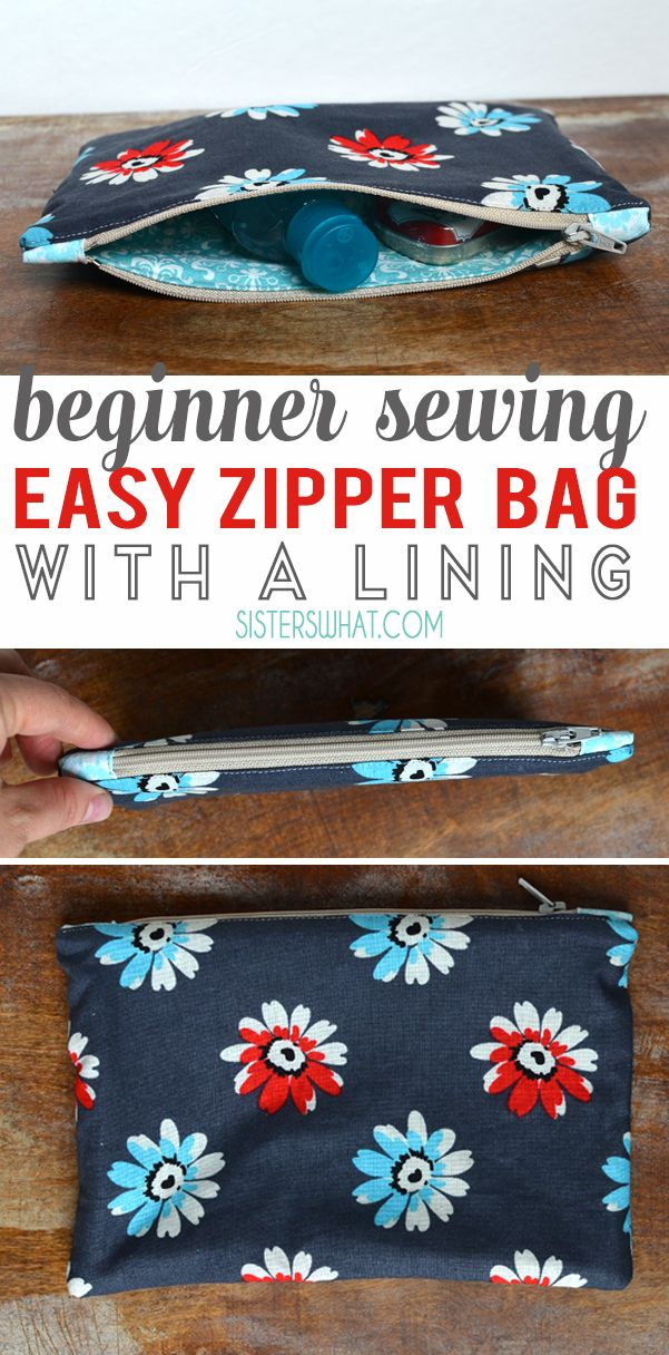 Easy Zipper Bag with Personalized Embroidery Teacher Gift Idea - Sisters, What!