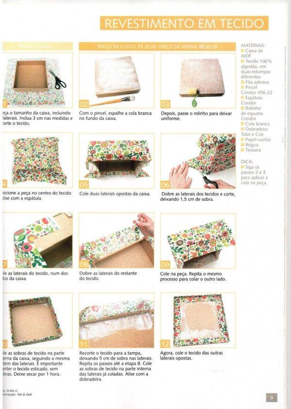 Faça você mesmo meu amor - Caixinhas de MDF com tecido - Casando Sem Grana