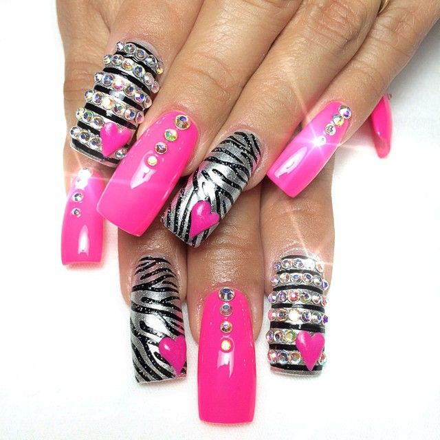 Acrylic Nail Game: 17 Best Ideas About Bling Acrylic Nails On Pinterest