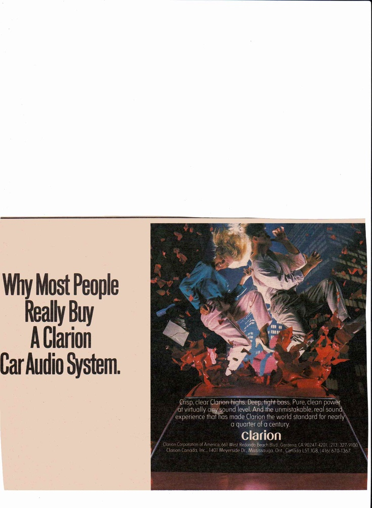1989 - Clarion car audio system ad  Rolling Stone December 24, 1989