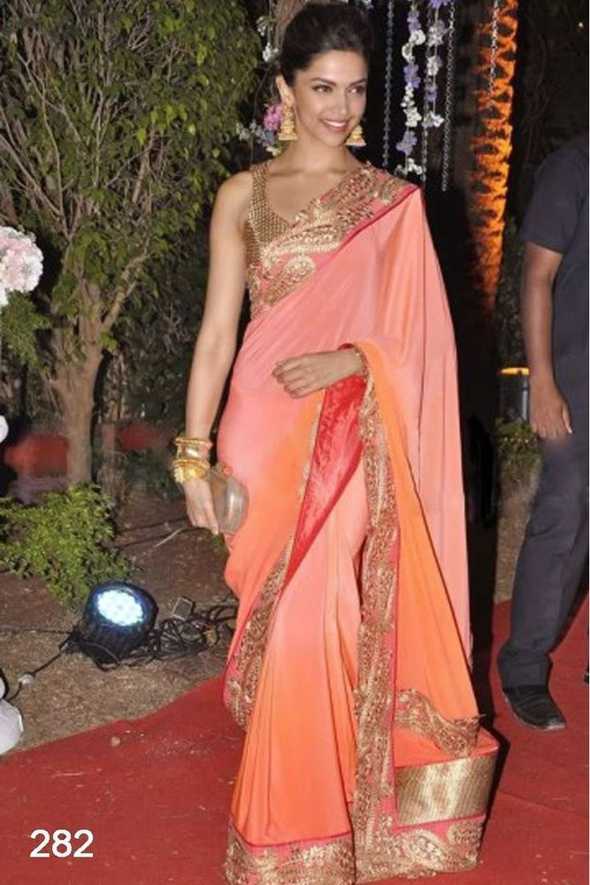 Bollywood Designer Sari IndianTraditional Ethnic Bridal Party Wear Replica Saree