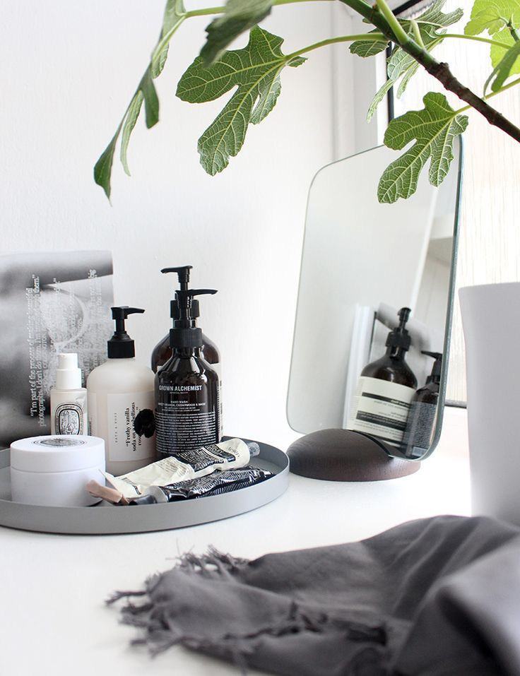 Daily beauty products tray styled to perfection | Interiors |: