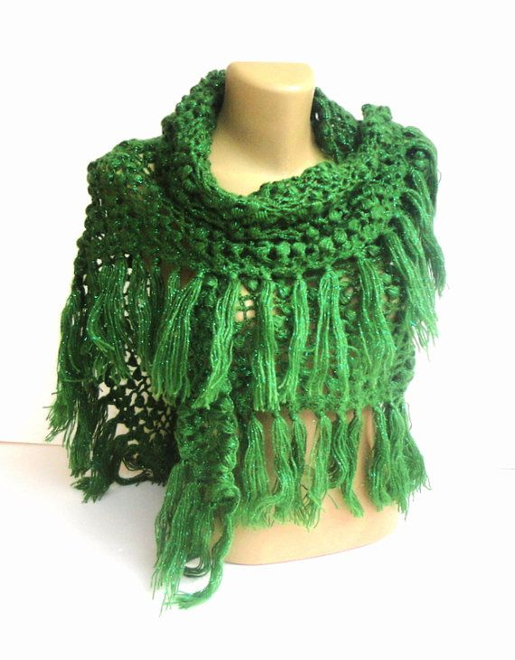 Mothers Day Gifts green women shawl wrap scarf by senoAccessory, $65.00