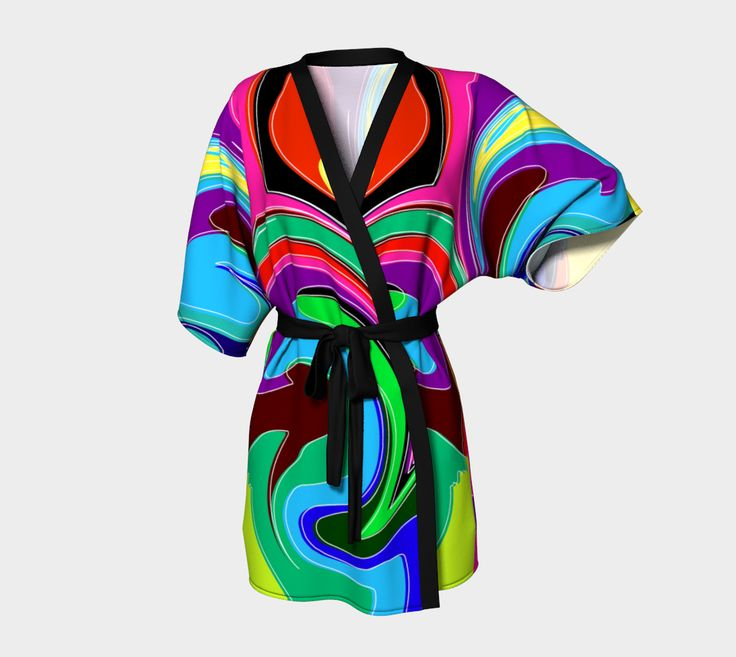 "Kimono+Robe+""Tricky+Vortex+Kimono+Robe""+by+Steel+Graphics"