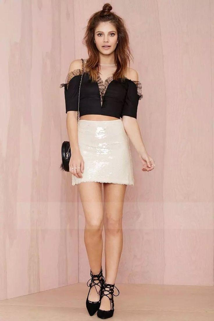 2015 new fashion skirts womens Sequined Snake Print skirt step skirt package hip…