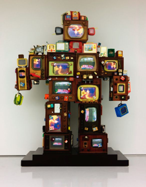 Nam june Paik TV is kitsch 2 1996