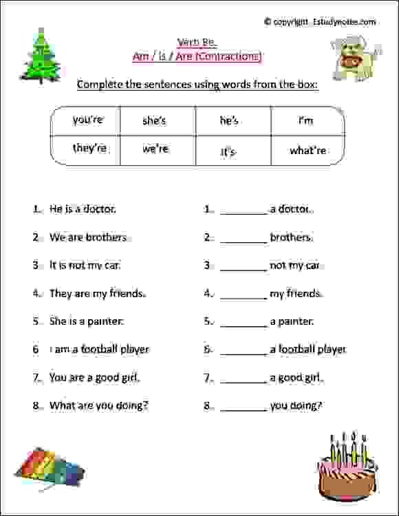 English Worksheets For Grade 1 Kids To Learn The Use Of