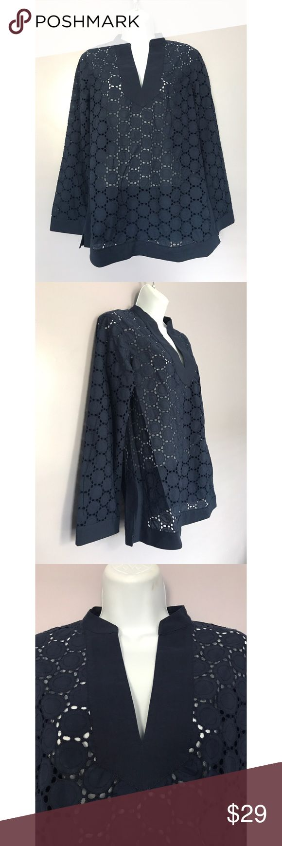 """{C Wonder} Navy Blue Tunic Classic color and shape! Navy blue tunic. Approx length: 27"""". Location: B4 C Wonder Tops Tunics"""
