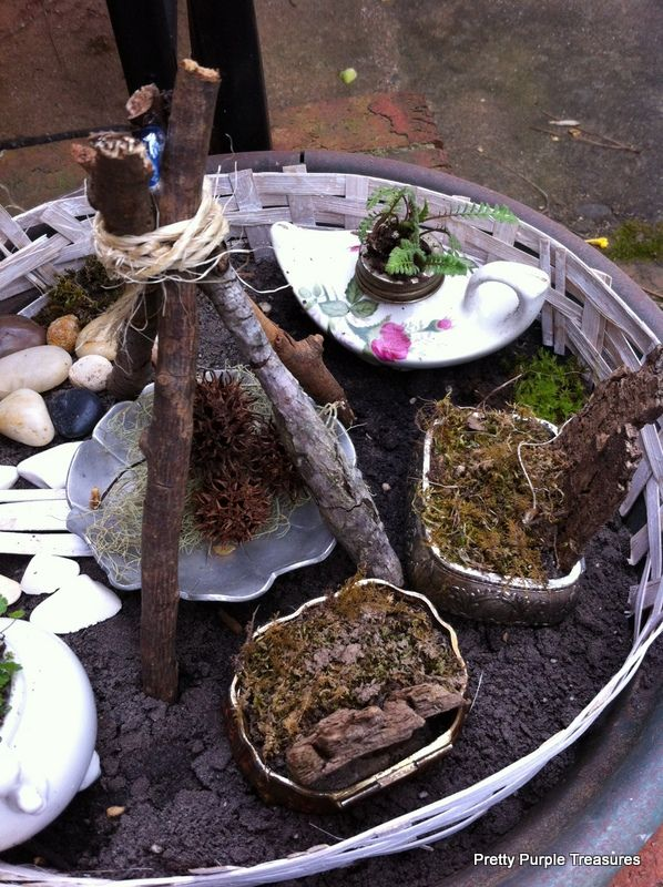 Fairy Garden With My Kids and Thrift Store Junk: Fairy Garden With My Kids and Thrift Store Junk