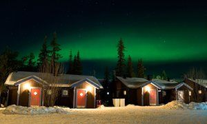 Light fantastic … the northern lights over the Ice Hotel. Photograph: Alamy