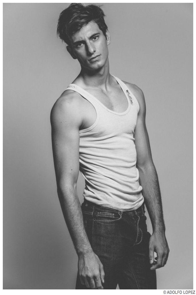 Martin Cheucos is Stripped to Basics for Images by Adolfo Lopez image Martin Chueco Model 2014 Photo Shoot 007