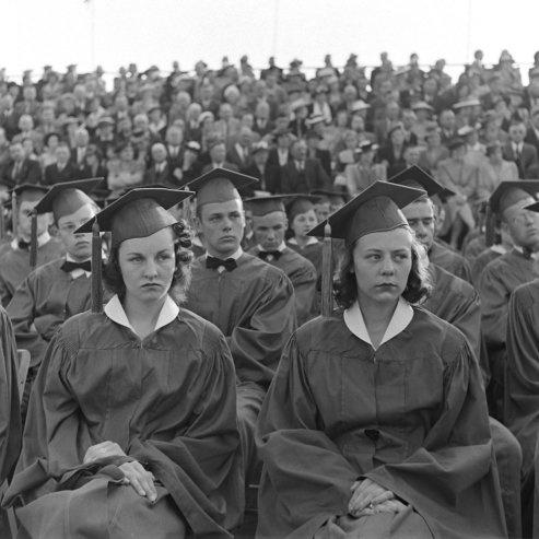 U.S. Mansfield, Ohio, Senior High School graduation, 1941.