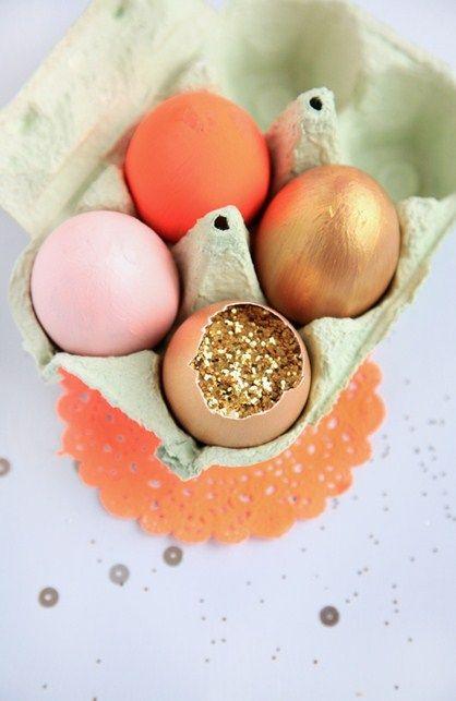 Glitter bomb easter eggs