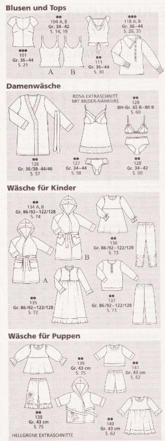 BURDA Mode 2005 BabyBorn Puppen Wäsche Kinder Unterwäsche Schnittmuster 12/05 | eBay