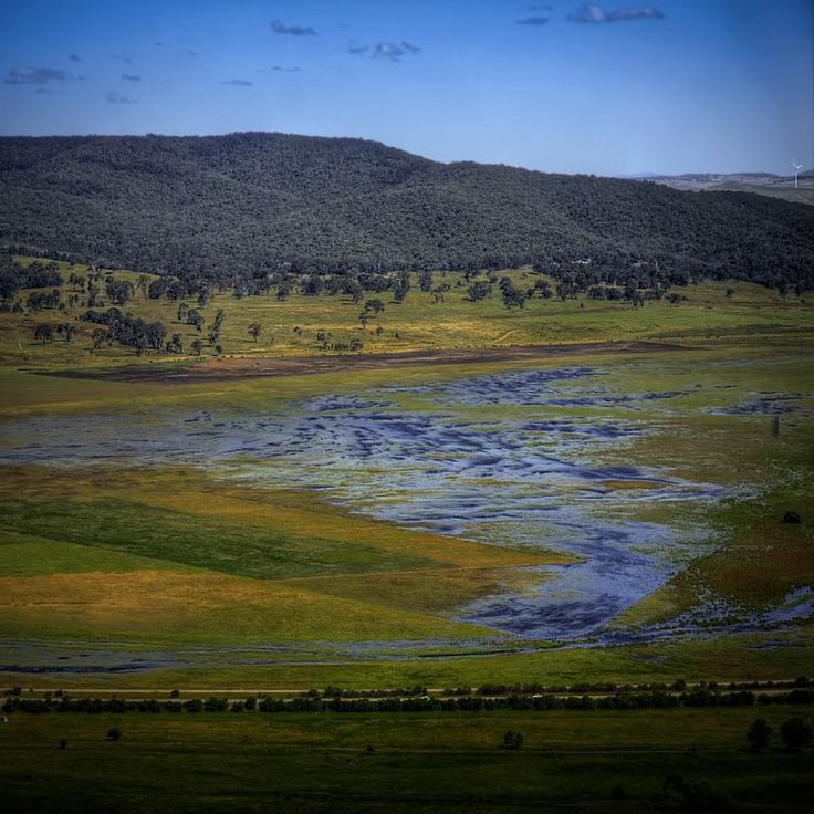 Lake George - Weatherzone Forums. Collector Creek past Stonewall Point.