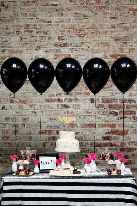 Decoración con globos para despedida mixta