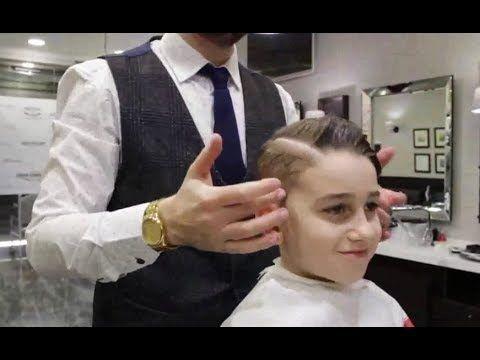 Haare Schneiden Junge Kinder Haarschnitt Mit Maschine Haare