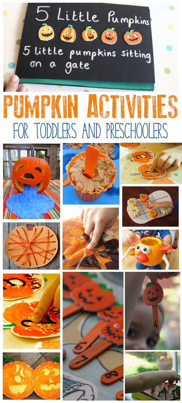 Fun pumpkin activities for toddlers and preschoolers ideal for use in the home or setting that encourage learning and play.